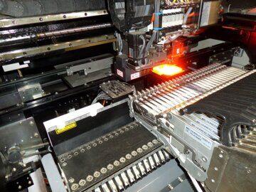 работа линии чип